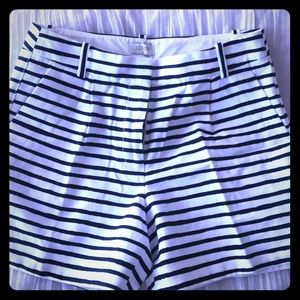 Sz 2 jcrew striped shorts